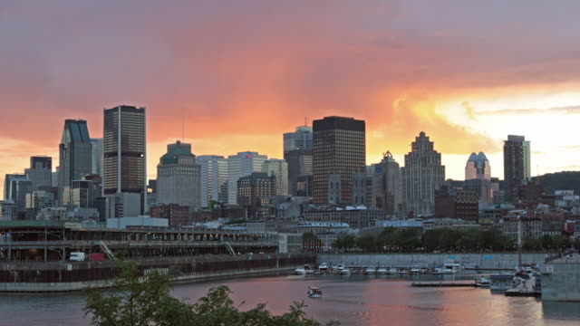 Montreal, Quebec Cityscape at Sunset