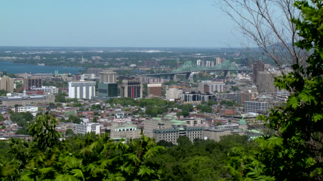 Montreal skyline with Jacques Cartier Bridge