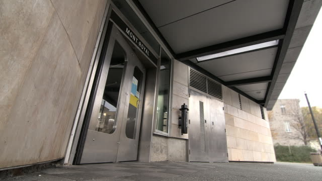 mont-royal subway station - underground rail stock videos & royalty-free footage