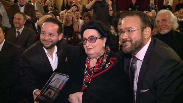 montserrat caballe receives the golden medal of barcelona artistic circle and the singer monica naranjo receives the opera jove award - monica singer stock videos & royalty-free footage