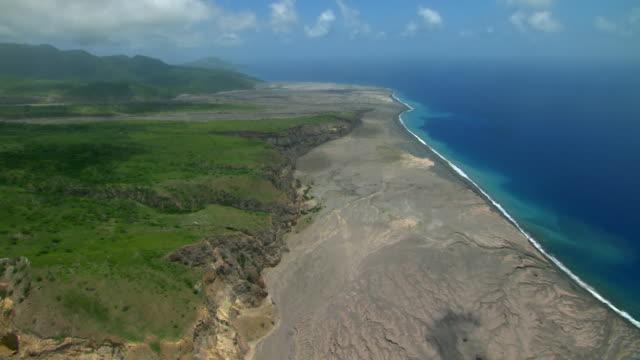 Montserrat coastline in Caribbean Islands.