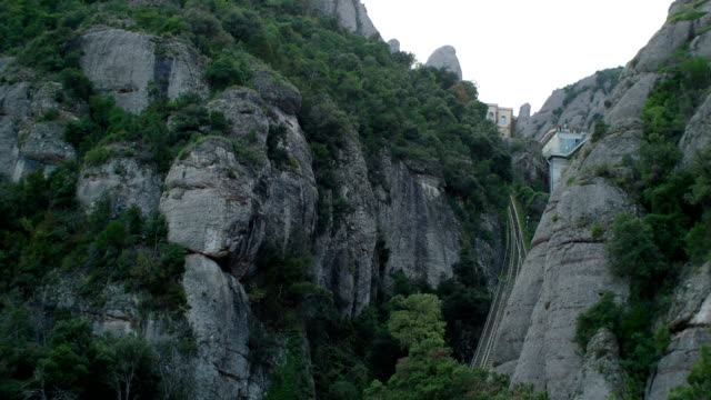 Montserrat Mountain Views from Cable Car, Catalonia, Spain