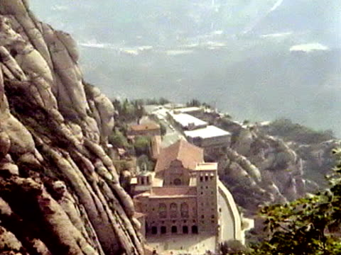 montserrat overview - circa 11th century stock videos & royalty-free footage