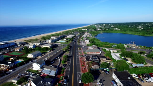 montuak town & highway - long island video stock e b–roll
