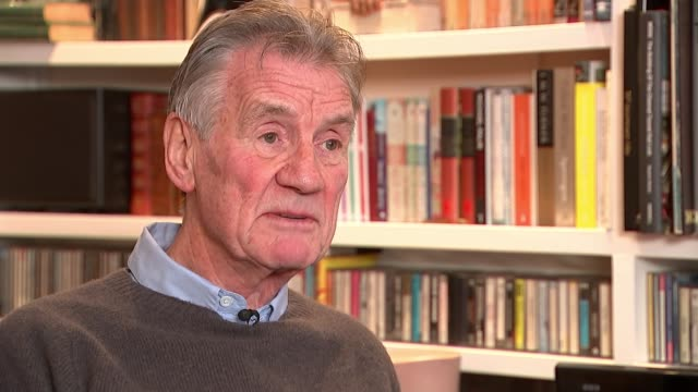 monty python's terry jones dies aged 77; england: int sir michael palin interview sot - モンティ・パイソン点の映像素材/bロール