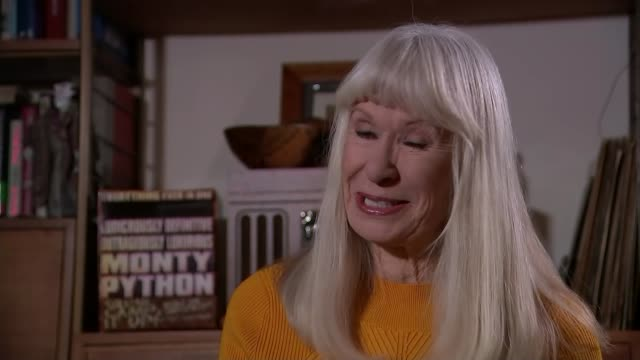 monty python's terry jones dies aged 77; england: london: int carol cleveland interview sot - モンティ・パイソン点の映像素材/bロール