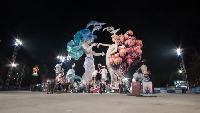 Monument Falla Nou Campanar 2010 in Fallas Festival of Valencia