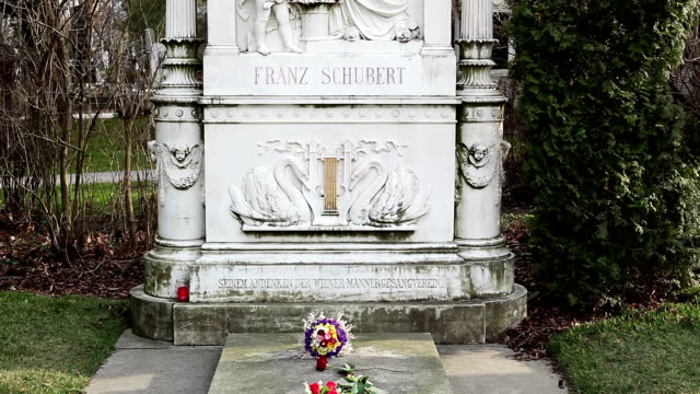 monument of franz schubert - traditionally austrian stock videos & royalty-free footage