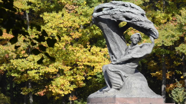 monument of frederic chopin - warsaw stock videos & royalty-free footage
