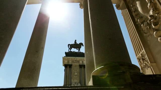 Monument of Parque del Buen Retiro in Madrid, Spain