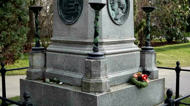 monument of wolfgang amadeus mozart - tombstone stock videos and b-roll footage