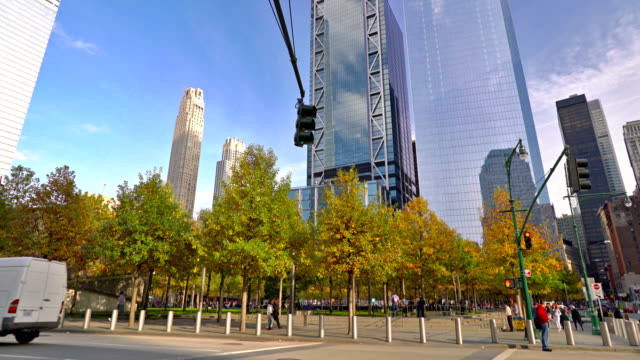 9/11 monument. park. downtown - religion stock videos & royalty-free footage