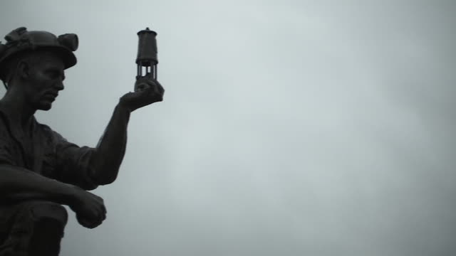 a monument to miners in sutton-in-ashfield - respect stock videos & royalty-free footage