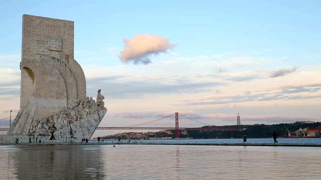 monument to the discoveries in lisbon - portuguese culture stock videos & royalty-free footage