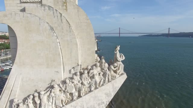 monument to the discoveries, lisbon, portugal - lisbon stock videos & royalty-free footage
