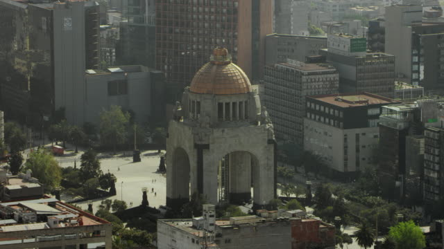 monument to the revolution in mexico city - revolution stock videos & royalty-free footage