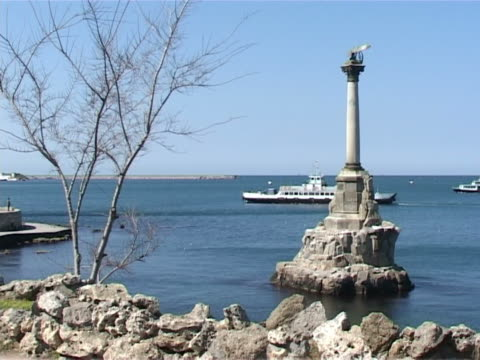 monument to the scuttled ships - sevastopol crimea stock videos and b-roll footage