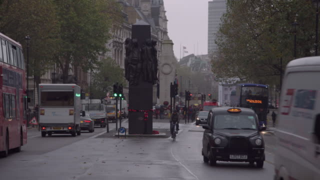 monument to the women of wwii, whitehall, london - whitehall london stock videos & royalty-free footage