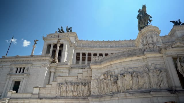monument to victor emmanuel ii in rome - courtyard stock videos & royalty-free footage