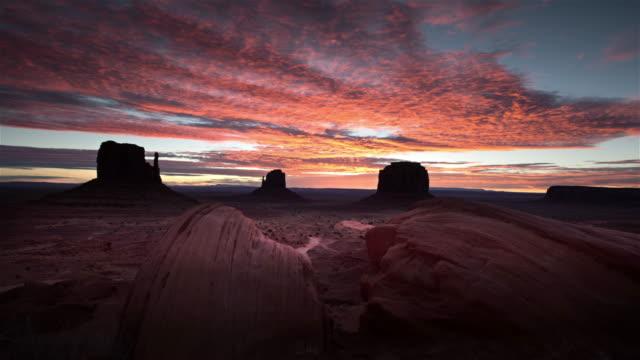 monument valley at dawn, utah - navajo culture stock videos & royalty-free footage