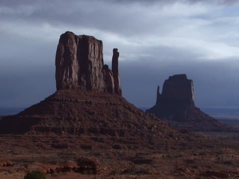 monument valley: east and west mitten buttes - mitten stock videos and b-roll footage