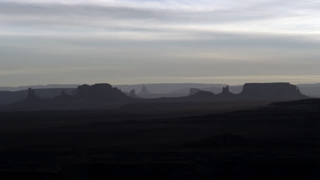 Monument Valley sunset time lapse