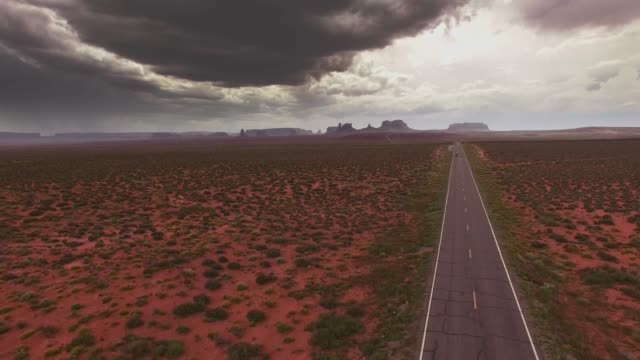 monument valley utah aerial - monument valley stock-videos und b-roll-filmmaterial