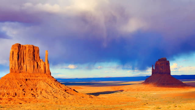 monument valley - butte rocky outcrop stock videos and b-roll footage