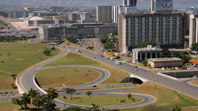 t/l, ws, ha, monumental axis and via w3 intersection, brasilia, brazil - conceptual symbol stock videos and b-roll footage