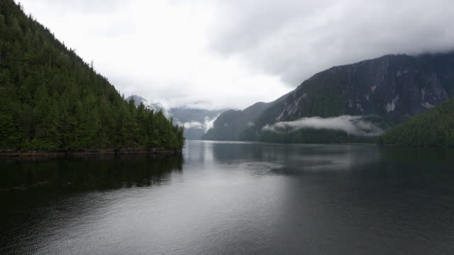 Moody coastal scene in Alaska's Misty Fjords