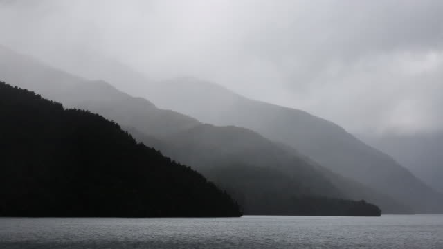 Moody skies in Dusky Sound, Fiordland