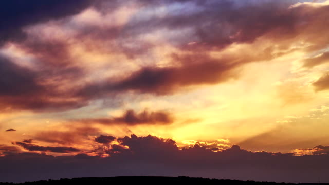 Moody sunset clouds timelapse