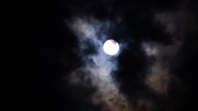 moon and cloud - sky - spooky stock videos & royalty-free footage