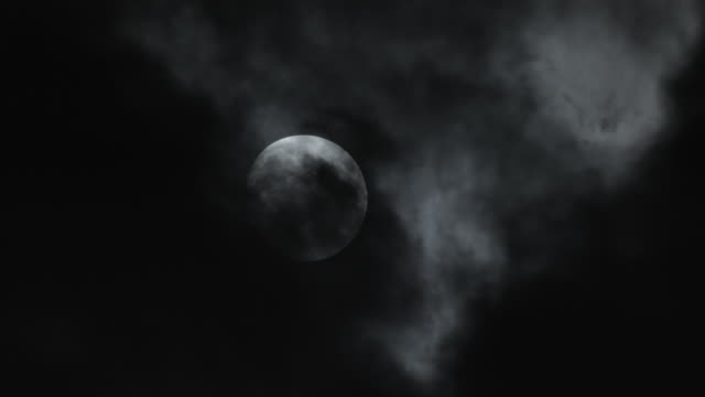 moon and cloud. - full moon stock videos & royalty-free footage