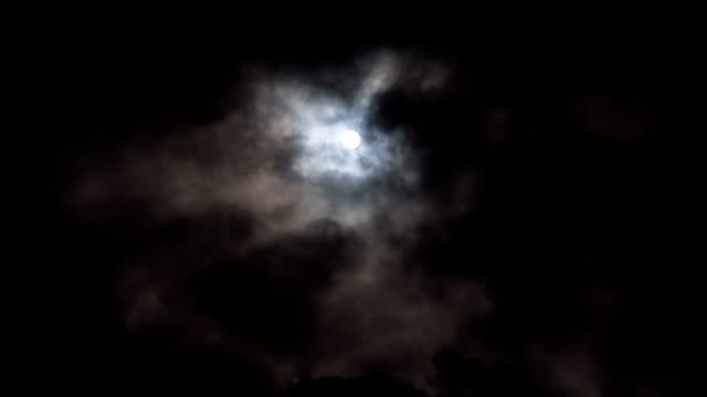 moon and clouds against black sky - overcast stock videos & royalty-free footage