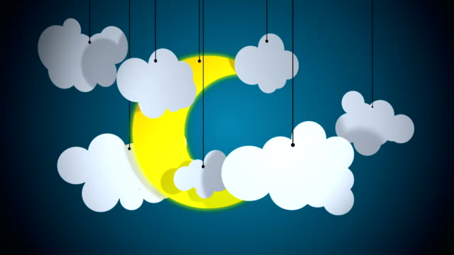 Moon and clouds loopable background
