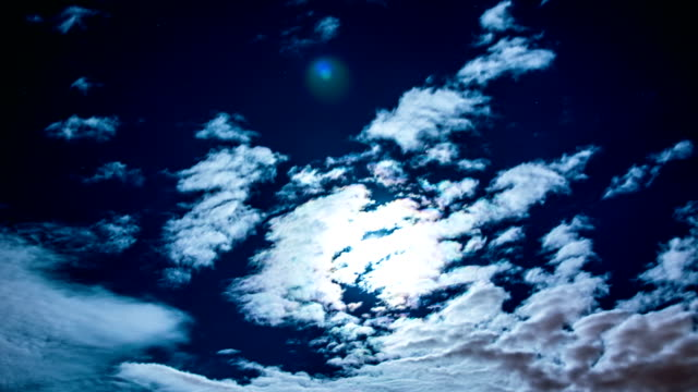 moon and clouds time lapse - cirrocumulus stock videos & royalty-free footage