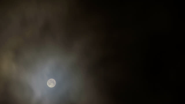 """""""Moon and clouds, timelapse"""""""