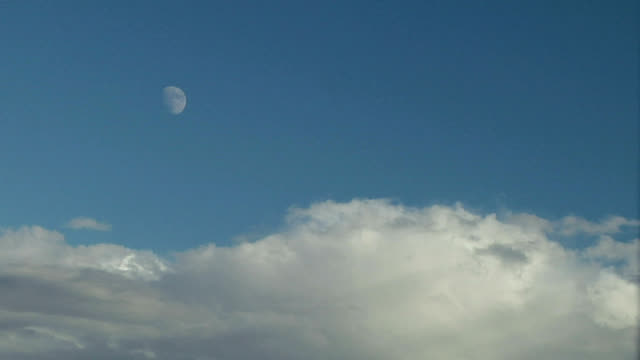 moon and clouds, timelapse - stratocumulus stock videos and b-roll footage