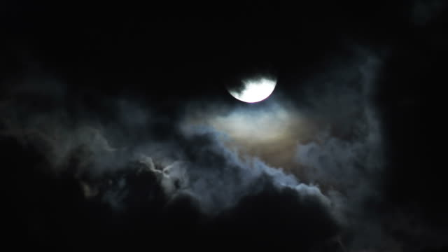 moon and clouds - overcast stock videos & royalty-free footage