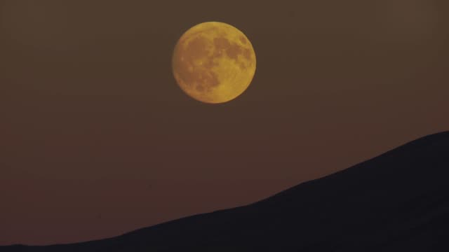 moon and mountains (caucasus) - full moon stock videos & royalty-free footage