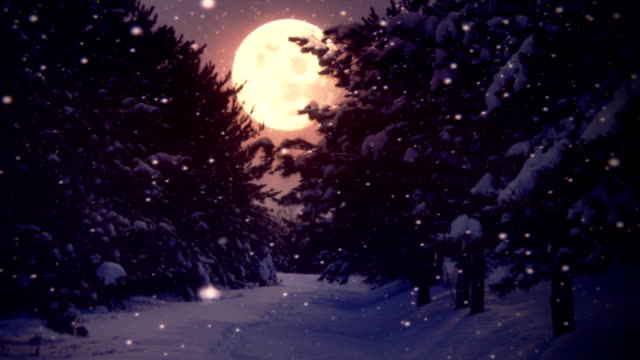 moon and snow (loopable) - full moon stock videos & royalty-free footage