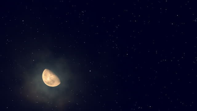 moon and stars background - star shape stock videos and b-roll footage