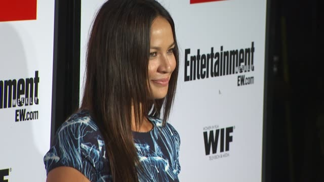 moon bloodgood at the entertainment weekly - women in film pre-emmy party at west hollywood ca. - pre emmy party stock videos & royalty-free footage