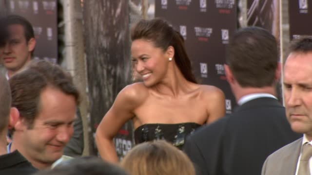 moon bloodgood at the 'terminator salvation' premiere at hollywood ca. - terminator stock videos & royalty-free footage