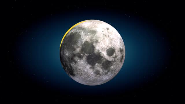 stockvideo's en b-roll-footage met moon cutaway - cheese - doorsnede