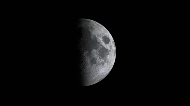 moon cycle or lunar phase animation - moon stock videos & royalty-free footage