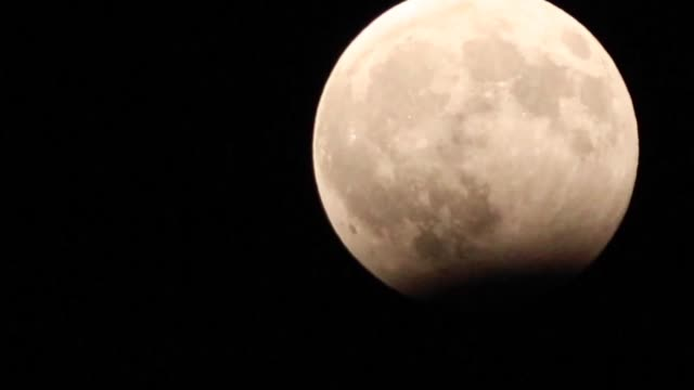 Moon during a partial lunar eclipse as seen from the Turkish city of Adana on August 07 2017