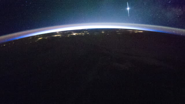 moon glow over north pacific - astronaut stock videos & royalty-free footage