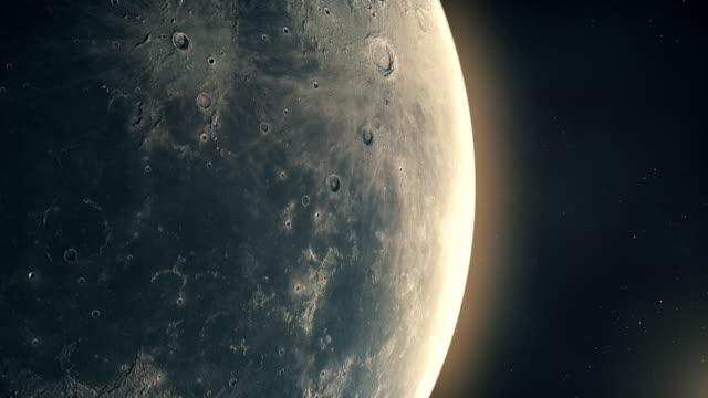 vídeos y material grabado en eventos de stock de luna en el espacio exterior y la luz del sol - espacio y astronomía